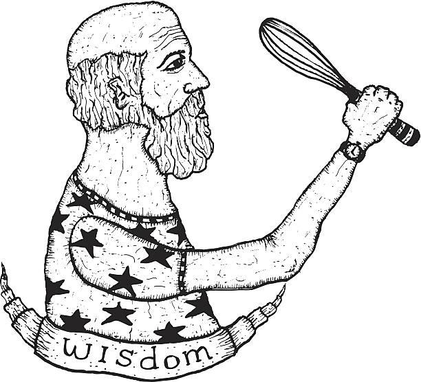 chef tattoos stock illustrations