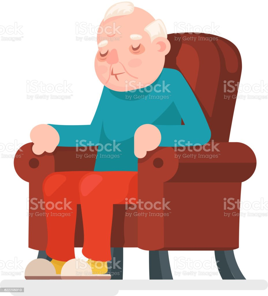 royalty free old man in chair clip art vector images rh istockphoto com