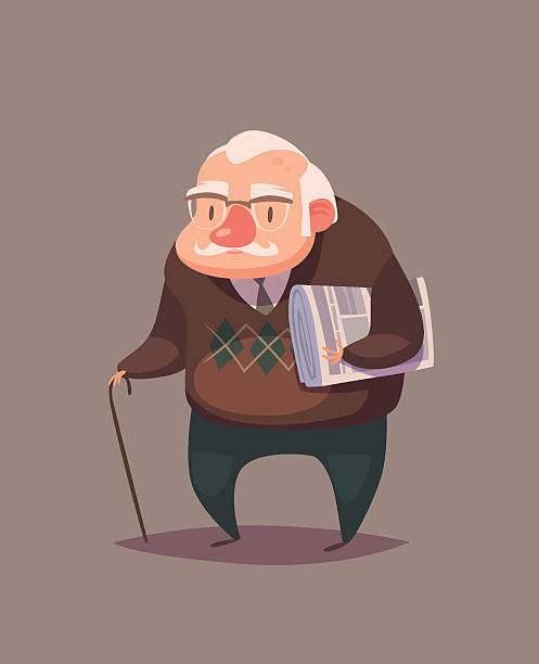 old man character - old man illustration pictures stock illustrations, clip art, cartoons, & icons