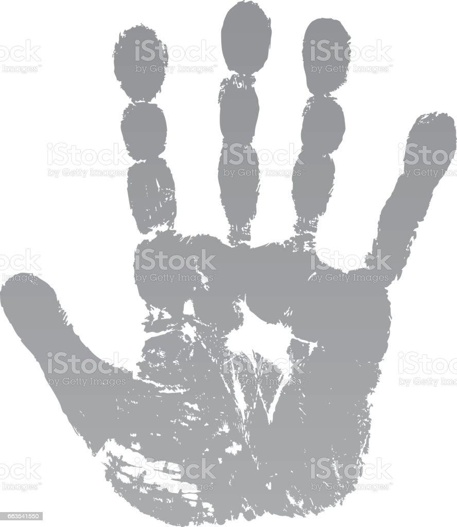 Alte Mann grüne Hand drucken – Vektorgrafik