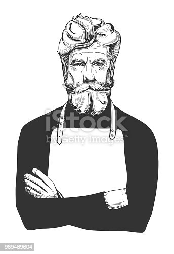 old man in apron