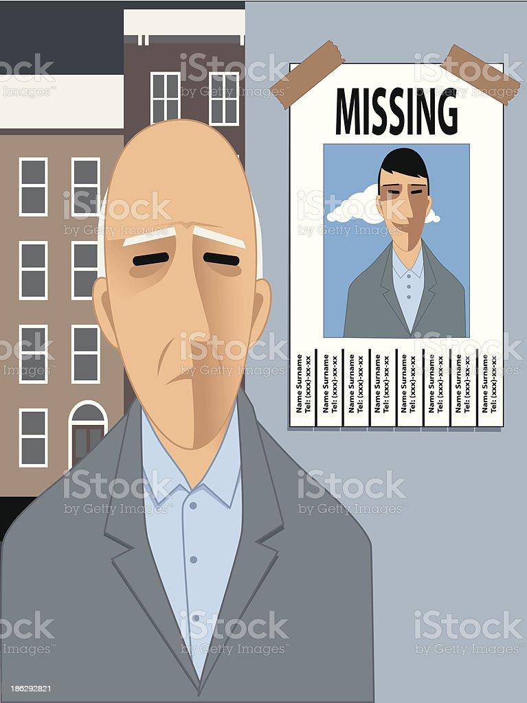 Hombre viejo falta de su juventud - ilustración de arte vectorial