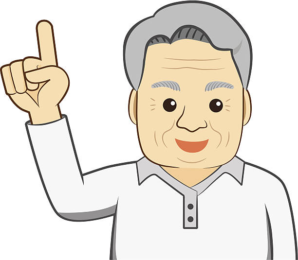 old man selected - old man showing thumbs up cartoons stock illustrations, clip art, cartoons, & icons