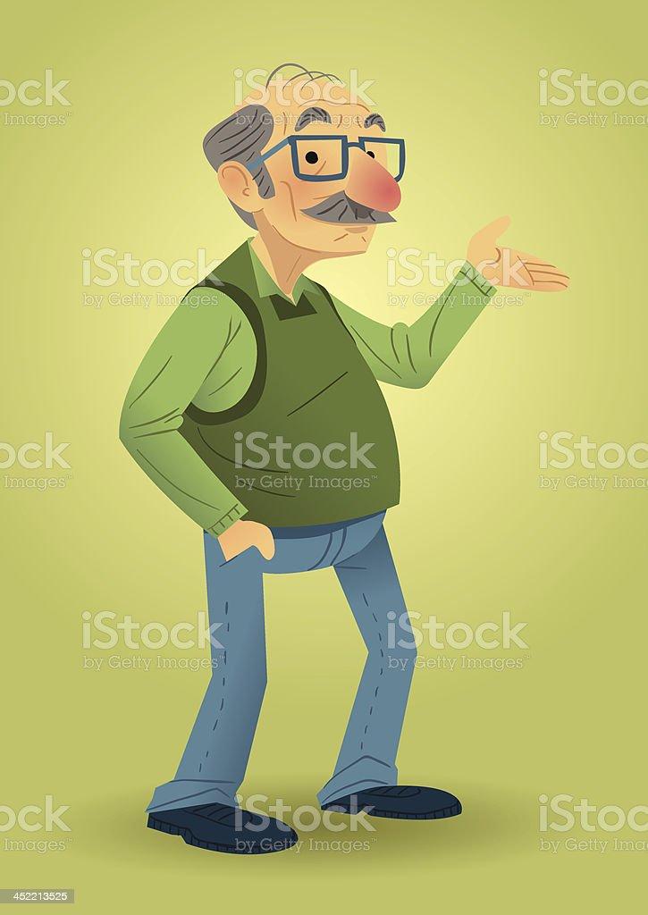 Old hombre - ilustración de arte vectorial