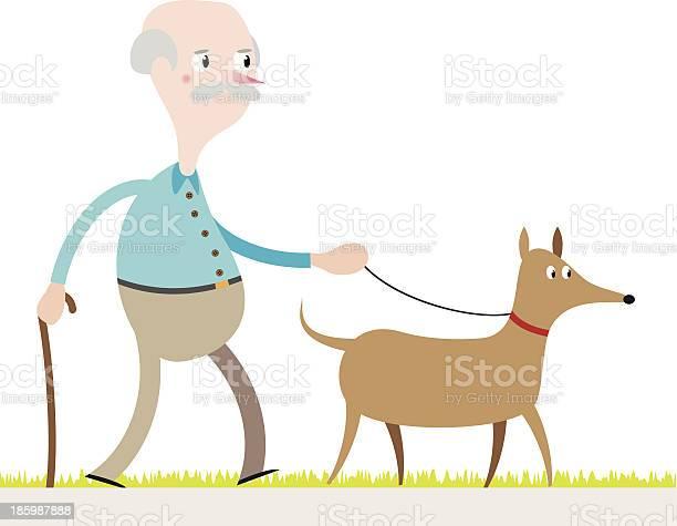 Old man walking his dog vector id185987888?b=1&k=6&m=185987888&s=612x612&h=8ltsc2qqg ft52rc6xtefwnw zymkiw6utydd13dk8k=