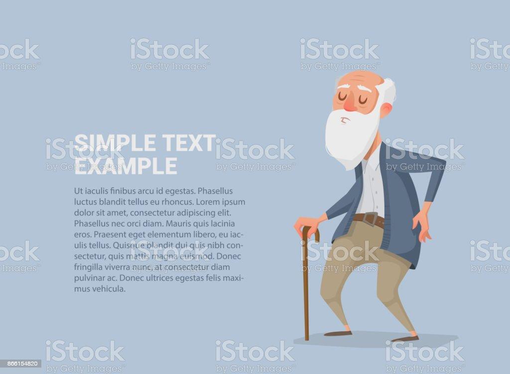 viejo con una barba - ilustración de arte vectorial