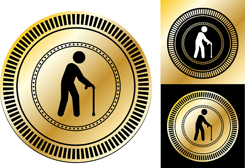 Old Man with a Cane Icon