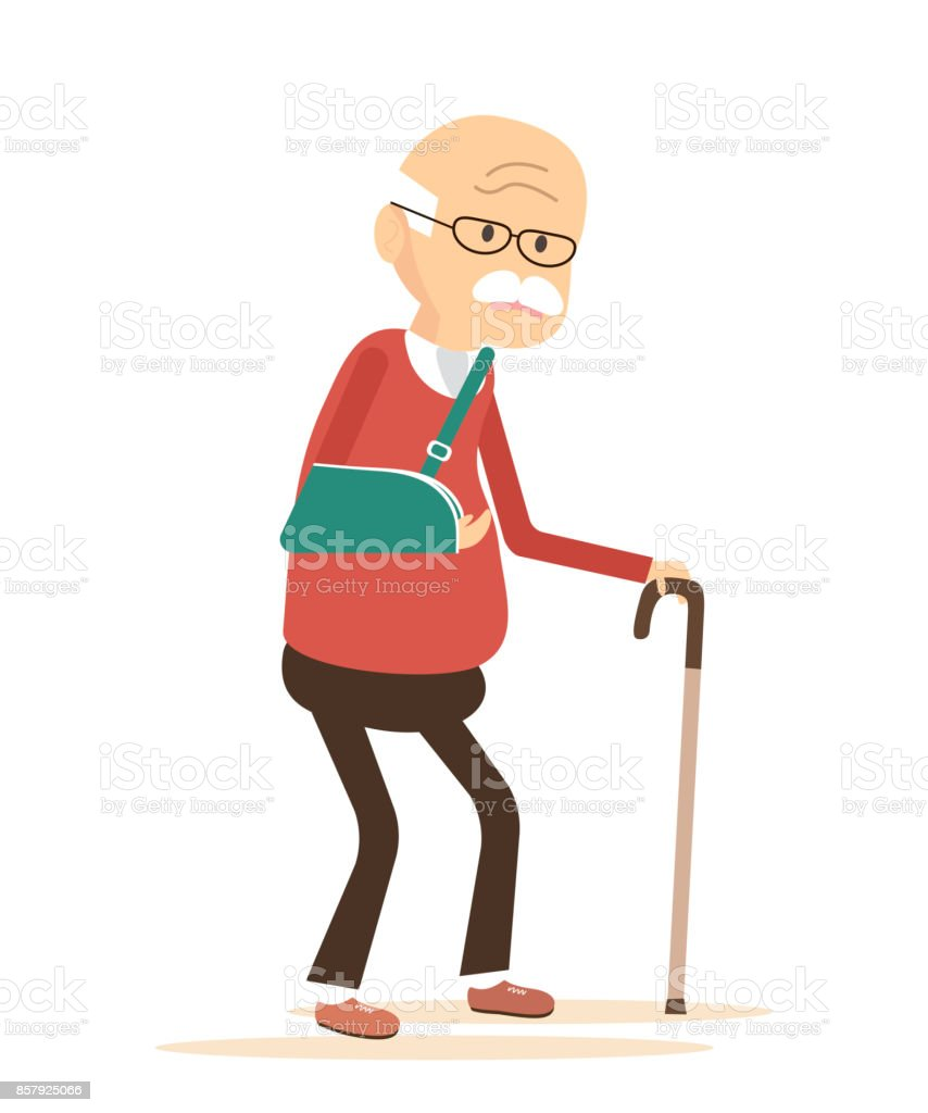 Old Man with Broken Arm