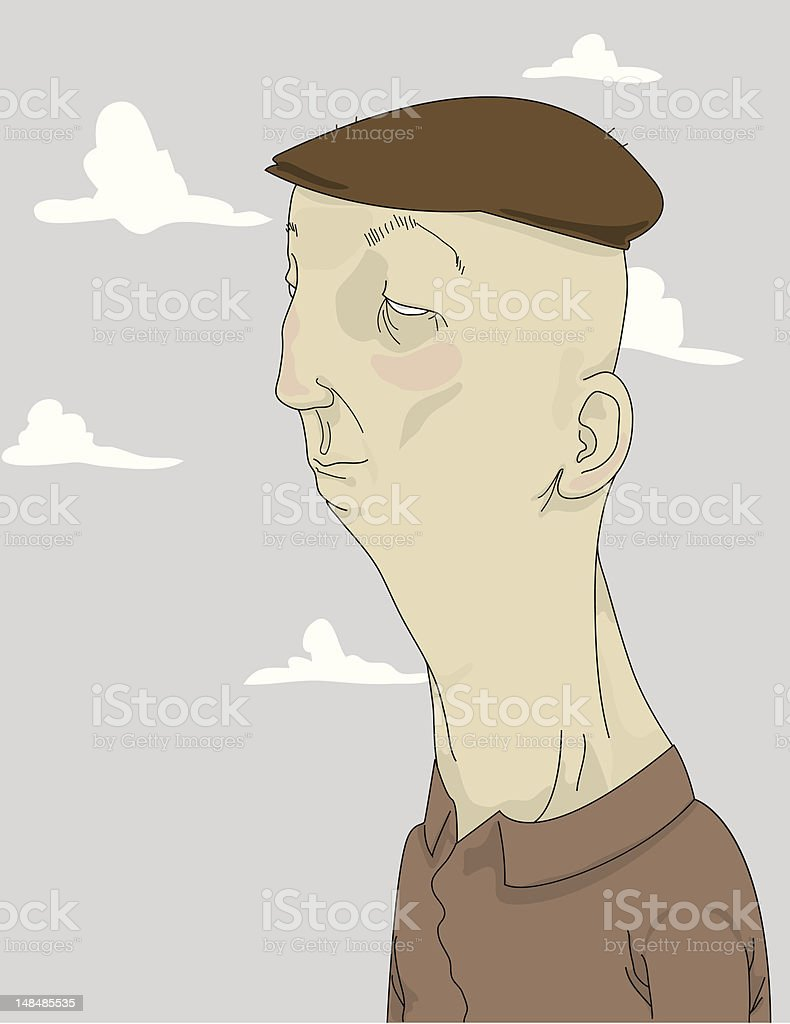 Old Man with Hat royalty-free stock vector art