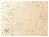 istock Old map isolated on white background 968293064