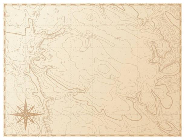 흰색 배경에 고립 된 오래 된 지도 - 오래된 stock illustrations