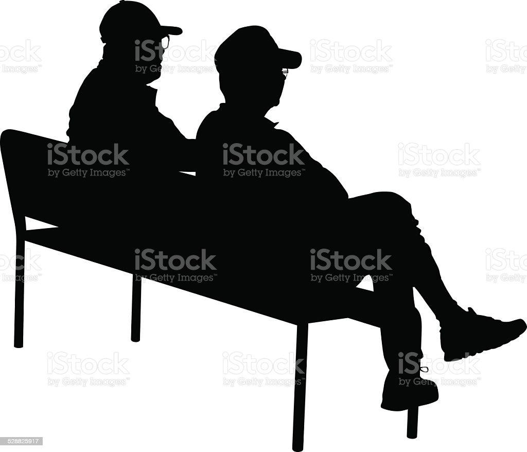 Old Men On Pak Bench