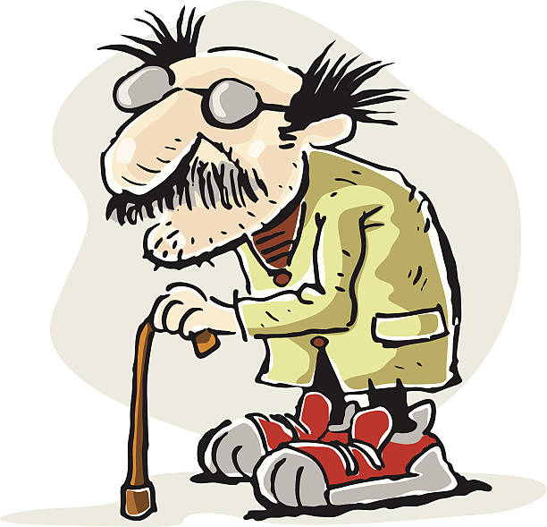 old men - old man shoes stock illustrations, clip art, cartoons, & icons