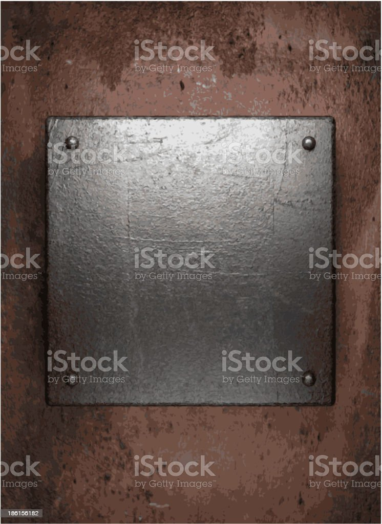 Old metal background vector art illustration