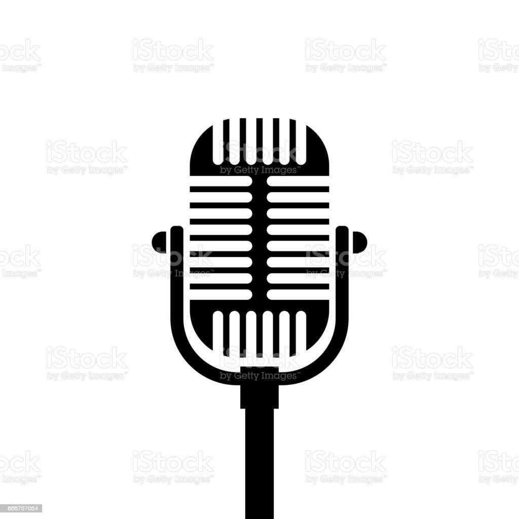 vectores de microfonos antiguos y illustraciones libre de