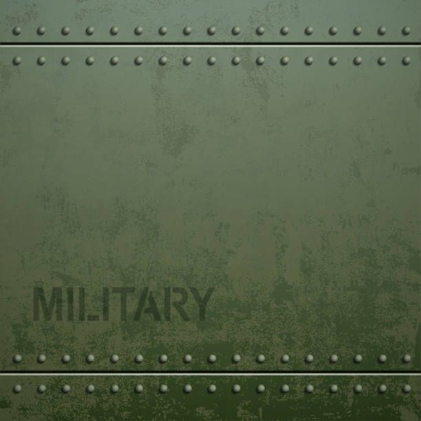 old military armor texture with rivets. metal background. - 軍事 幅插畫檔、美工圖案、卡通及圖標