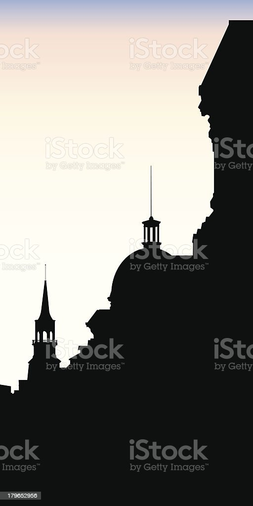 Old Montreal Silhouette royalty-free old montreal silhouette stock vector art & more images of canada