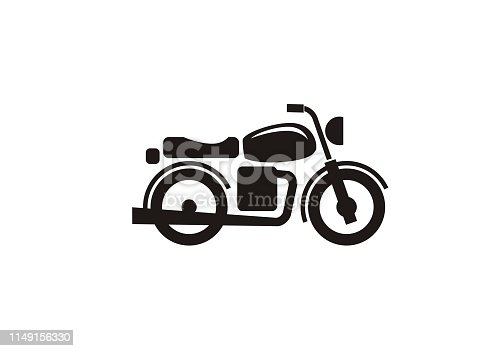 simple icon of a motorcycle