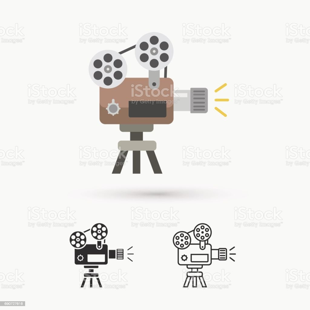 Old Movie Projector Stock Illustration - Download Image Now - iStock