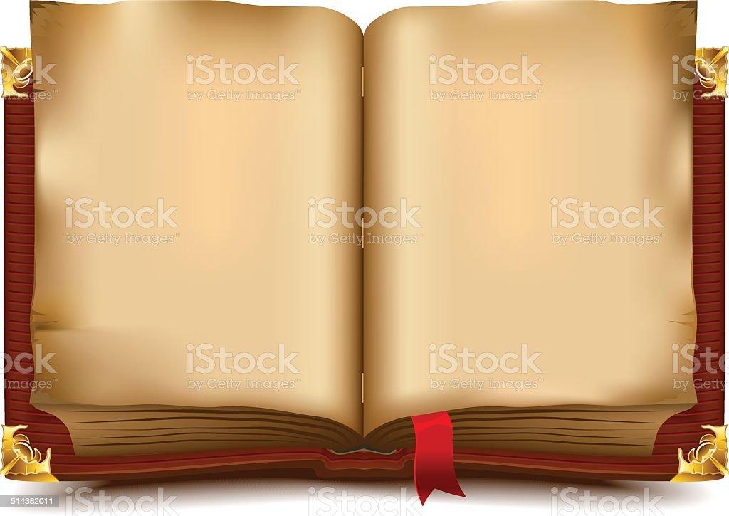 Alte offenes Buch – Vektorgrafik