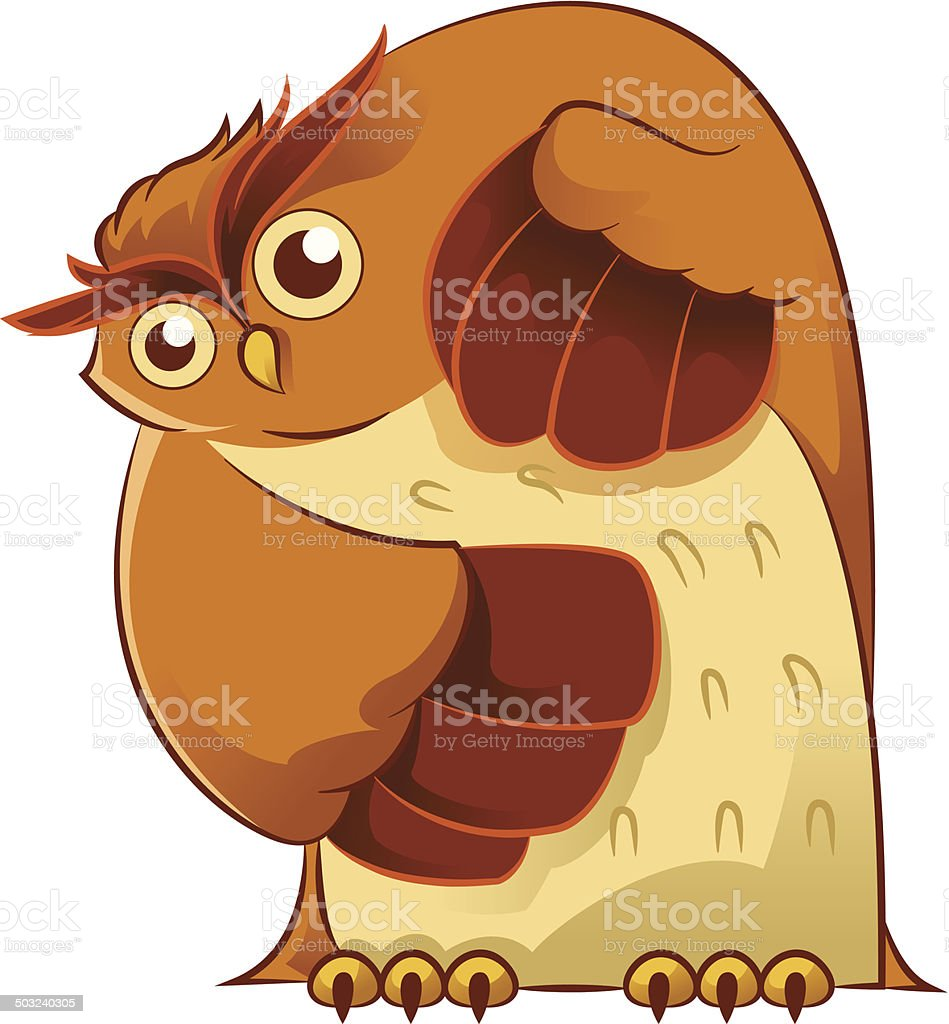 Old owl royalty-free stock vector art