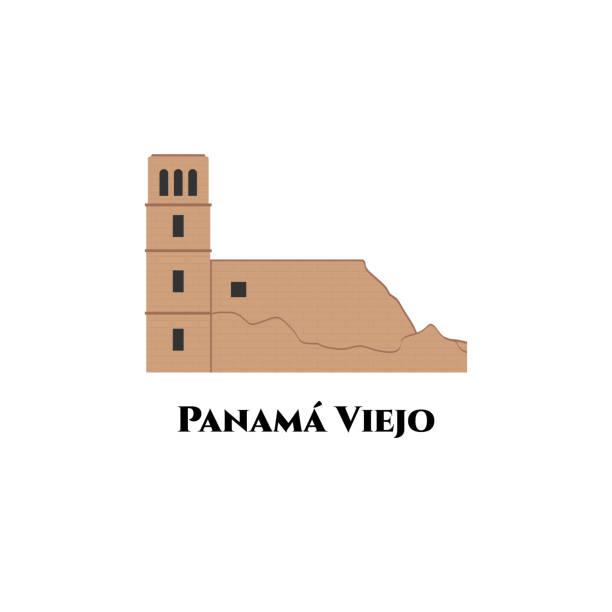 старый панамский собор в панаме вьехо исторический монументальный комплекс. объект всемирного наследия оон. захватывающие виды вы должны � - unesco stock illustrations