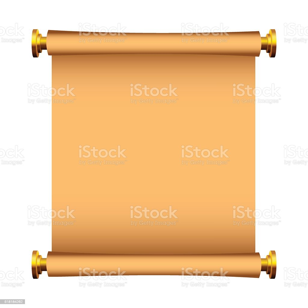 Antique Scroll Paper: Old Paper Backgroundantique Scroll On White Stock Vector
