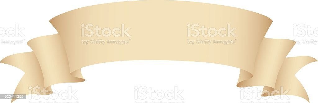 Old Paper Banner vector art illustration
