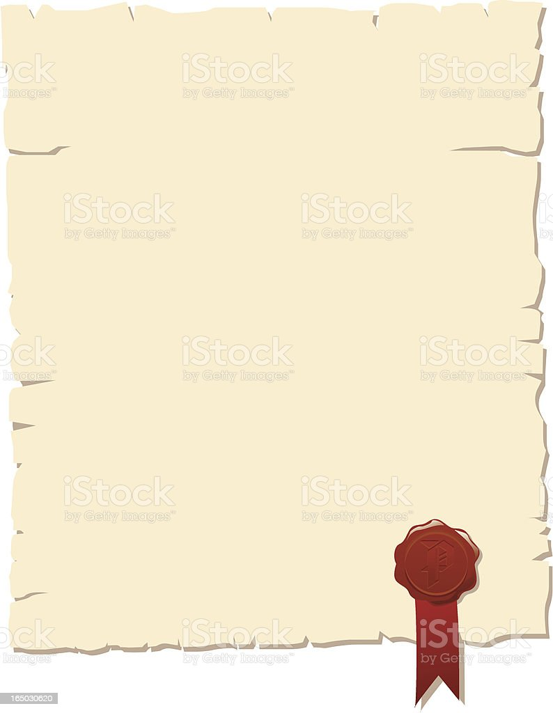 old paper blank letter certificate stock vector art more images of