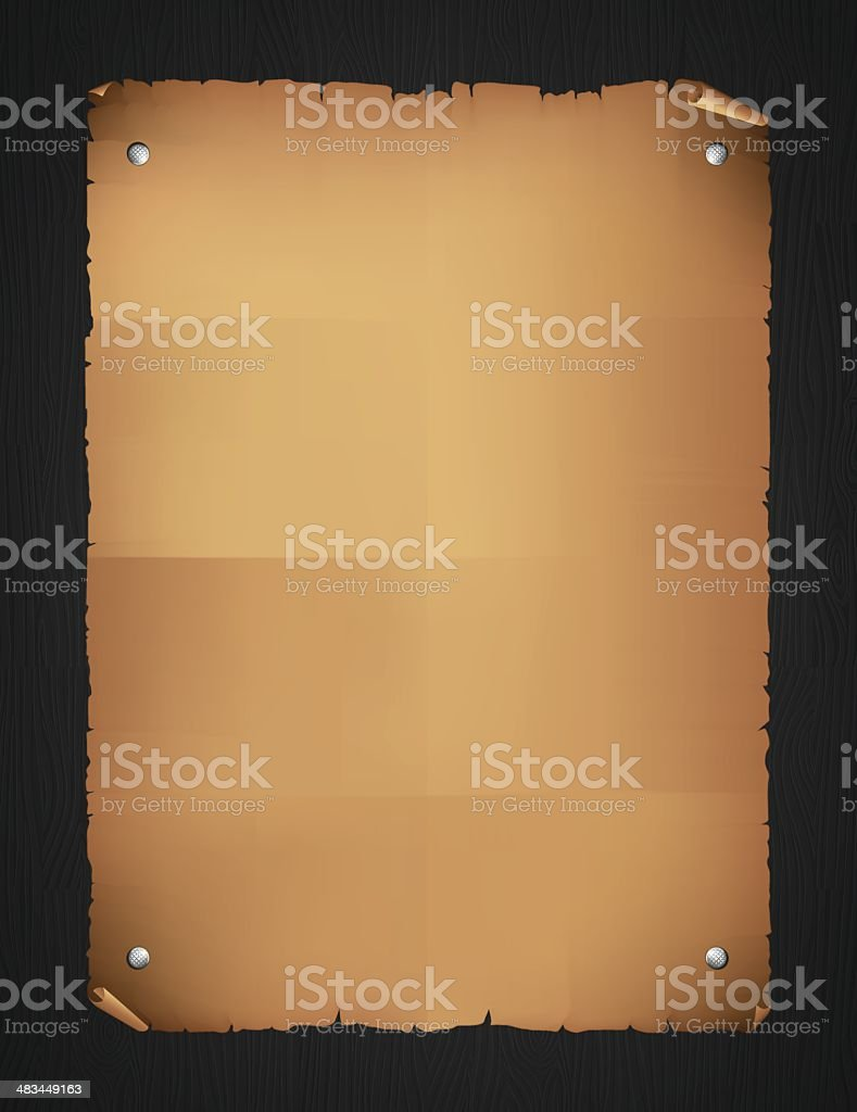 Old paper on black wood royalty-free old paper on black wood stock vector art & more images of antique