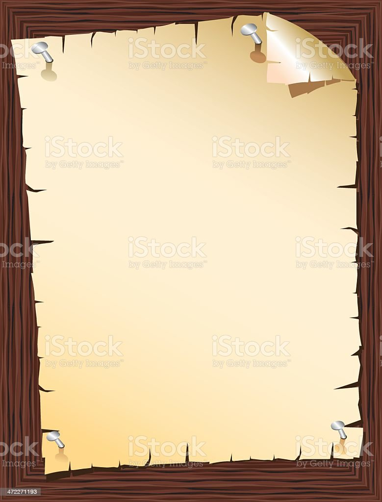 altes papier auf holz wand stock vektor art und mehr bilder von alt 472271193 istock. Black Bedroom Furniture Sets. Home Design Ideas