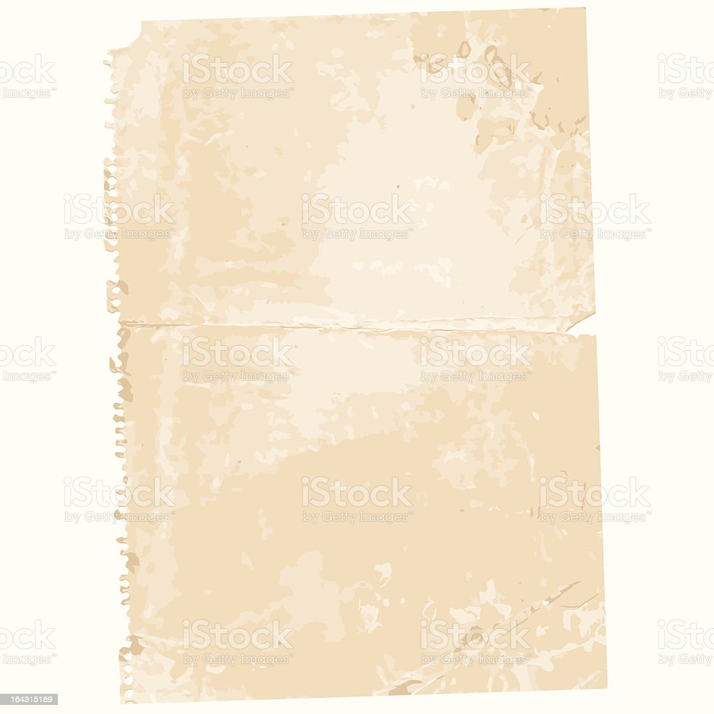 Old Paper Page royalty-free stock vector art
