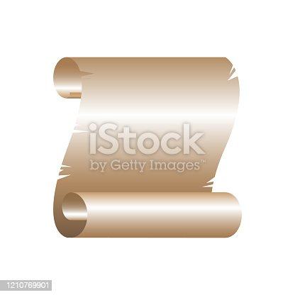 istock Old paper parchment - usable for different purposes. 1210769901