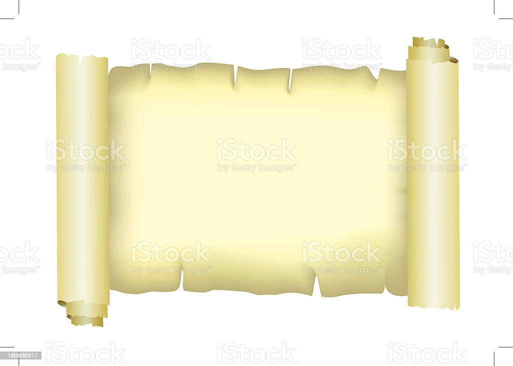 Old paper parchment, vector royalty-free stock vector art