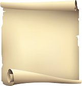 old paper scroll banner