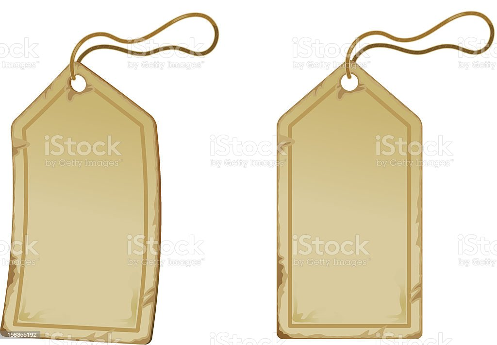Old paper tags royalty-free stock vector art