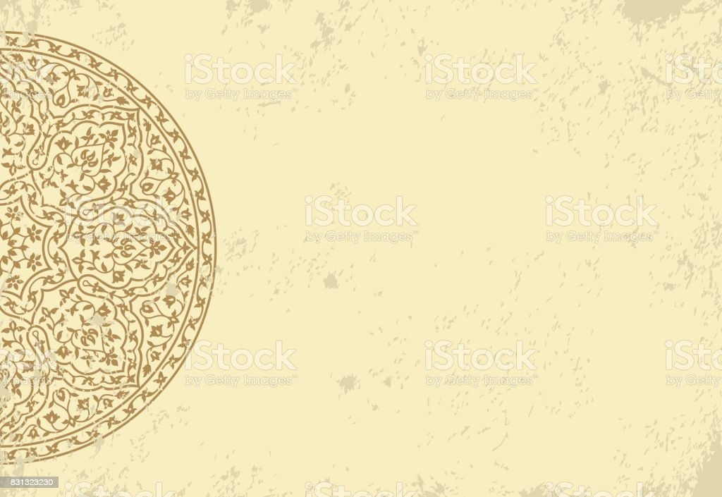 Old Paper Template With Pattern Stock Illustration - Download Image