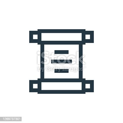 istock old paper vector icon isolated on white background. Outline, thin line old paper icon for website design and mobile, app development. Thin line old paper outline icon vector illustration. 1269737301