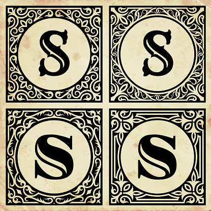 Old Paper with Decorative Letter S