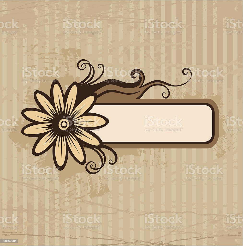 Old paper with flower royalty-free old paper with flower stock vector art & more images of art