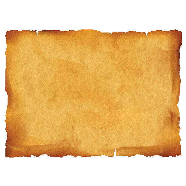 old parchment isolated on white background - eski stock illustrations