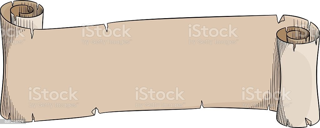 old parchment scroll vector art illustration
