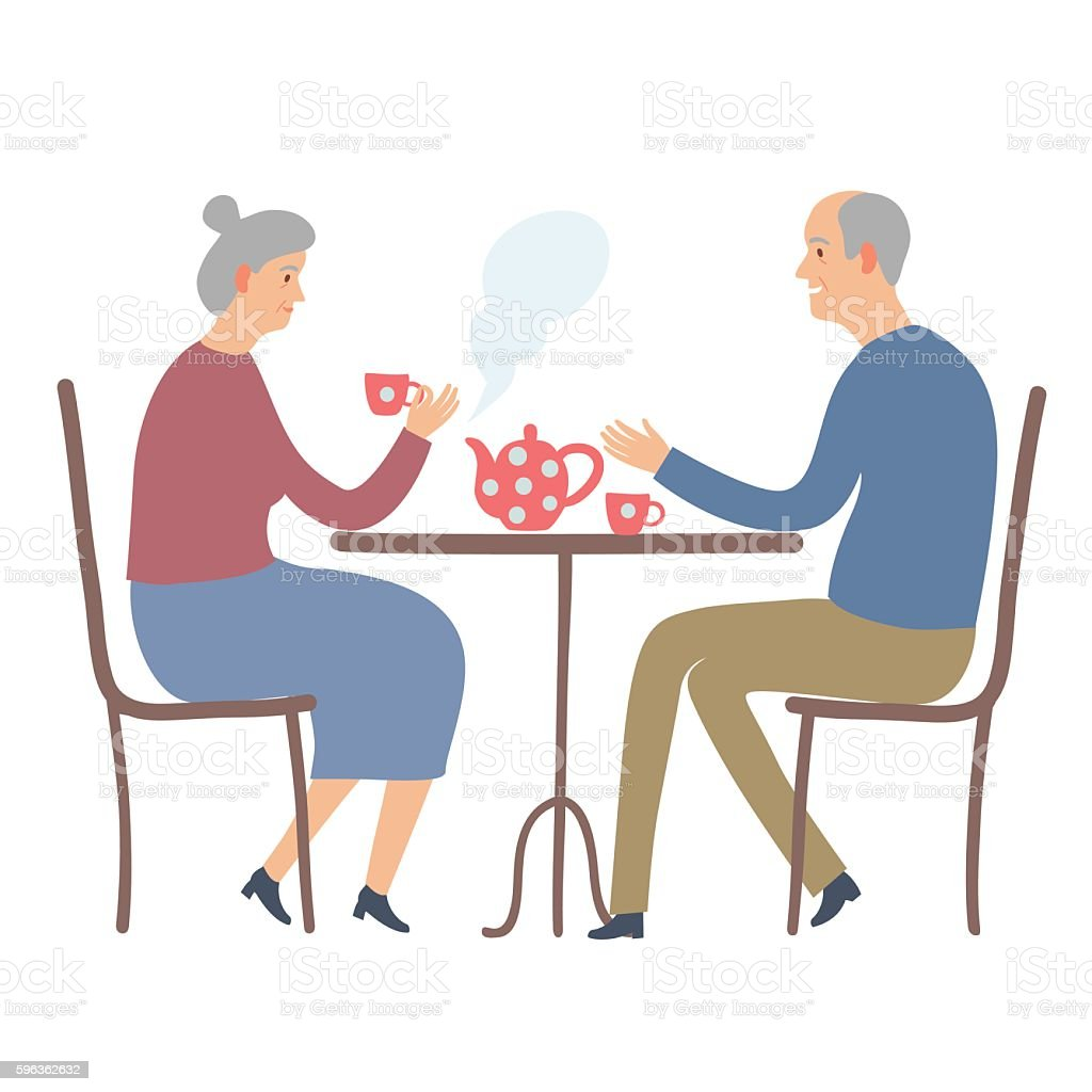 Old people drinking tea royalty-free old people drinking tea stock vector art & more images of adult