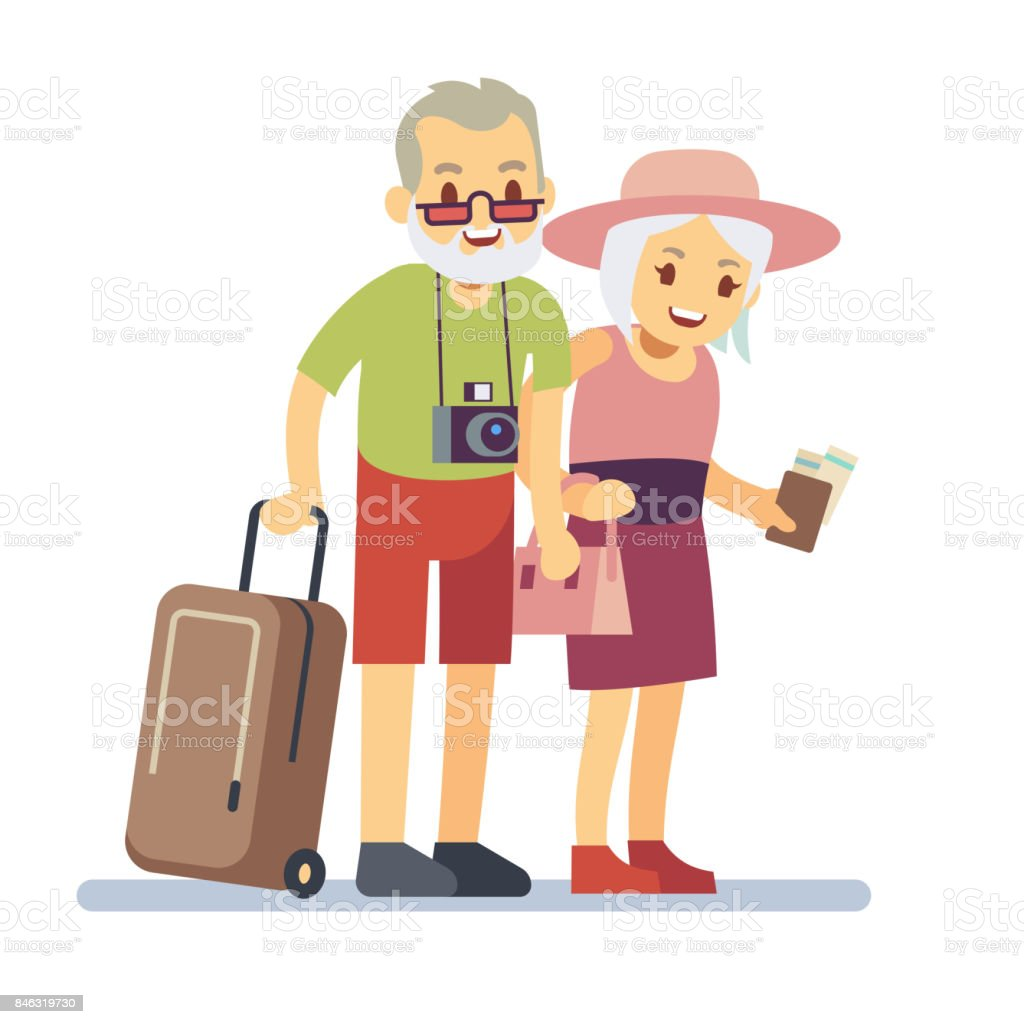 royalty free older couple traveling clip art vector images rh istockphoto com traveling clipart free travel clipart cruise caribbean