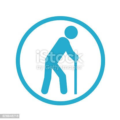 istock Old person icon 626648218