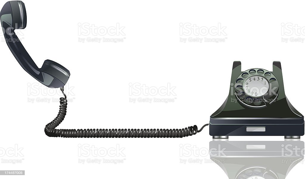 Old Phone vector art illustration