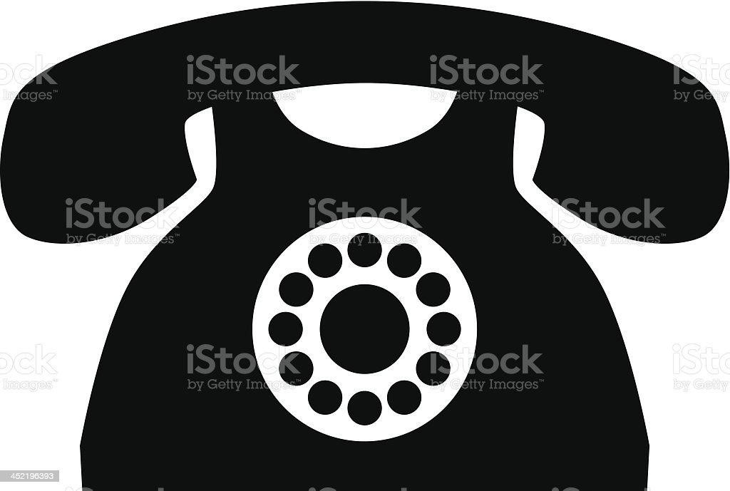 Old Phone royalty-free stock vector art
