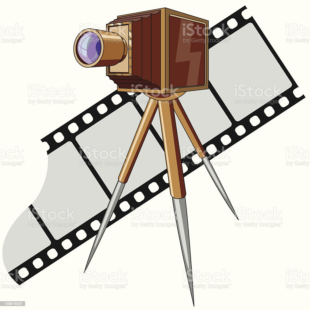 Old photo camera royalty-free stock vector art