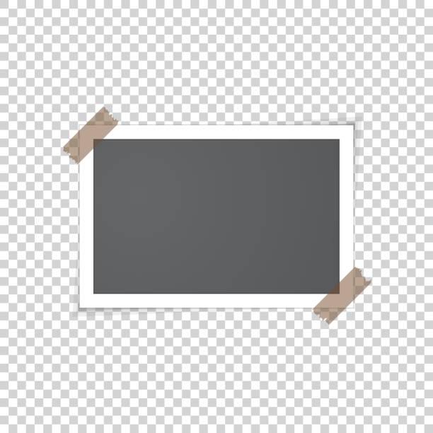 altes foto mit klebeband - breit stock-grafiken, -clipart, -cartoons und -symbole