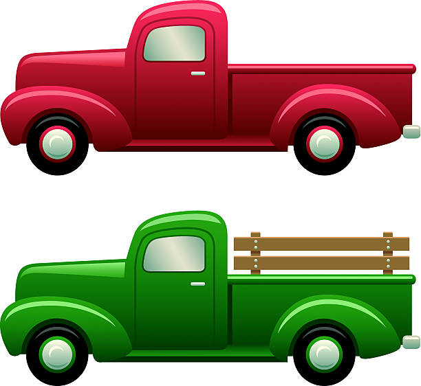Best Pick Up Truck Illustrations, Royalty-Free Vector ...